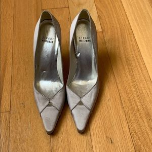 Stuart Weitzman Satan Silver High Heels